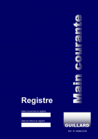 Registre de MAIN COURANTE Editions Guillard