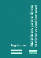 Registre des MATIERES PREMIERES et ARTICLES DE CONDITIONNEMENT Editions Guillard