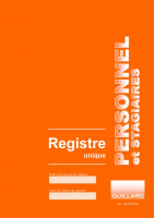Registre Unique du PERSONNEL et STAGIAIRES Editions Guillard