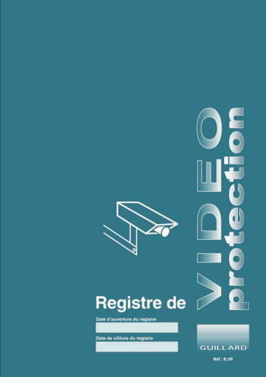 Registre de VIDEOPROTECTION Editions Guillard
